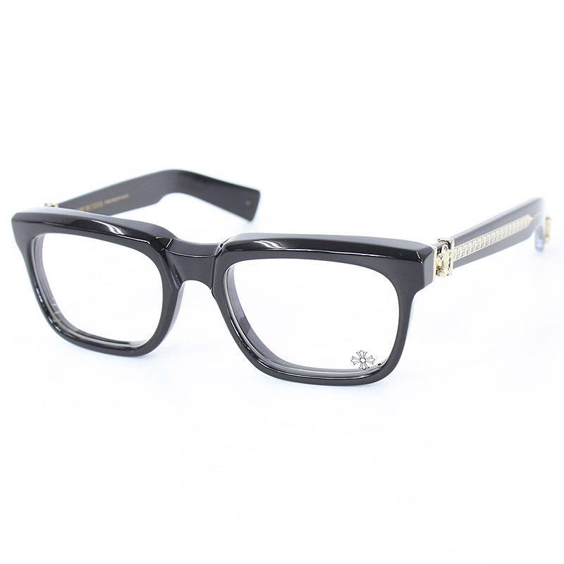 クロムハーツ/Chrome Hearts 【SEE YOU IN TEA】サイドBSフレアモチーフ眼鏡(ブラック×クリア)【07】【小物】【227071】【中古】[MPD]bb35#rinkan*A