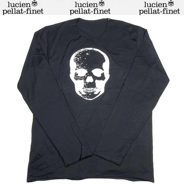 【送料無料】 【セール】ルシアンペラフィネ( lucien pellat-finet) メンズ スタッズ スカル ロングTシャツ EVH1160   ブラック(黒)  13S【smtb-TK】