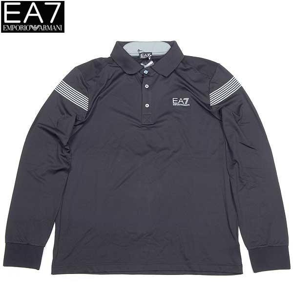 【送料無料】 エンポリオアルマーニ(EMPORIO-ARMANI) EA7 メンズ GOLF PRO ポロシャツ 長袖 273513 3A419 00020 ブラック(黒)  【smtb-TK】  13A