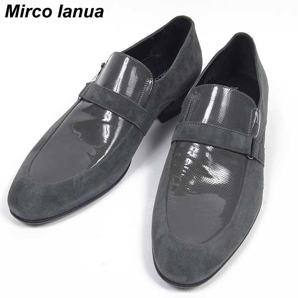 【送料無料】 MIRCO IANUA(ミルコ イアヌア) メンズ スウェード トリミング スリッポン靴 02280 SUEDE   【楽ギフ_包装】【smtb-TK】