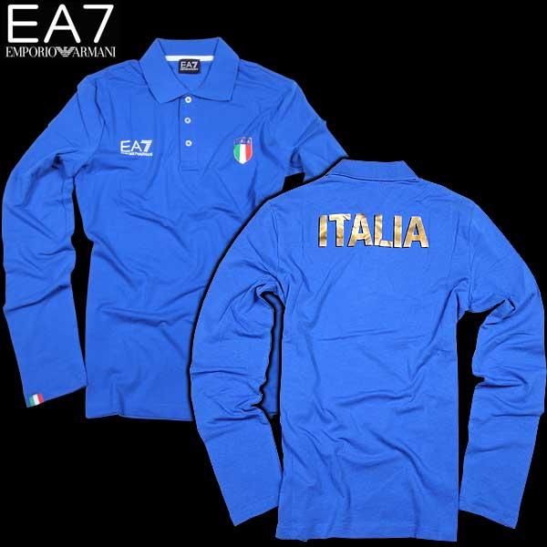 【送料無料】 エンポリオアルマーニ(EMPORIO-ARMANI) EA7 メンズ 長袖ポロシャツ イタリアチーム 273223 CC914 12633  【楽ギフ_包装】【smtb-TK】  15S