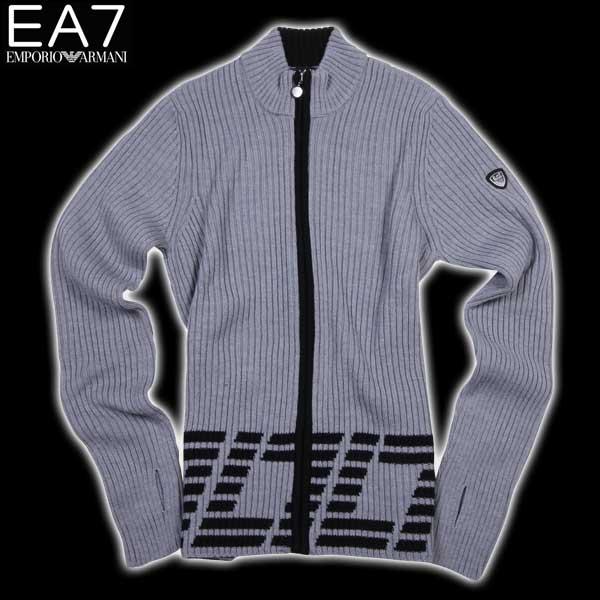 【送料無料】 エンポリオアルマーニ(EMPORIO-ARMANI) EA7 メンズ ウール ジップアップセーター SLE05M SL05M 11541  【楽ギフ_包装】【SALE1512】  15A