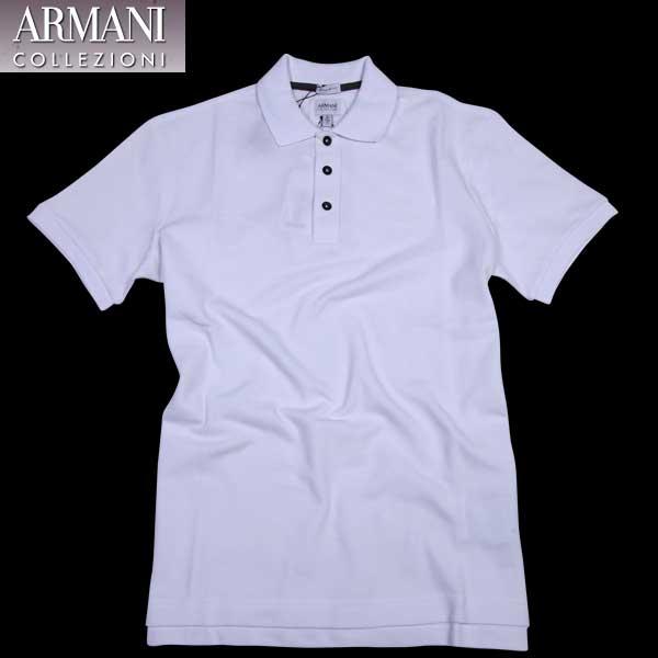 【送料無料】 アルマーニ コレッツォーニ (ARMANI COLLEZIONI) メンズ ポロシャツ   3XCF88 CJX7Z 0100  【楽ギフ_包装】【SALE1602】  61S