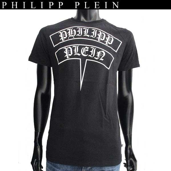【送料無料】  フィリッププレイン(PHILIPP PLEIN)  メンズ クルーネック 半袖Tシャツ F17C MTK0765 PJY002N T-shirt Round Neck SS Wo 02 black  【楽ギフ_包装】【smtb-tk】 71A