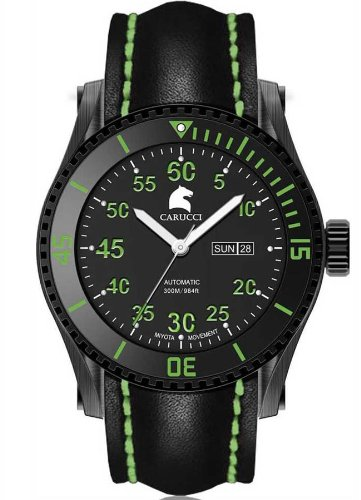 Carucci カルッチ 自動巻き 腕時計 メンズ [CA2196BK-GR] 並行輸入品 メーカー国際保証24ヵ月 純正ケース付き