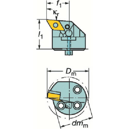 サンドビック:サンドビック コロターンSL 570カッティングヘッド L571.35C-403227-15 型�:L571.35C-403227-15