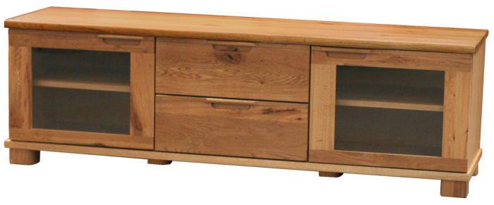 [送料無料]ナラ無垢材の「D-oak」165幅TVボード(ハイタイプ)