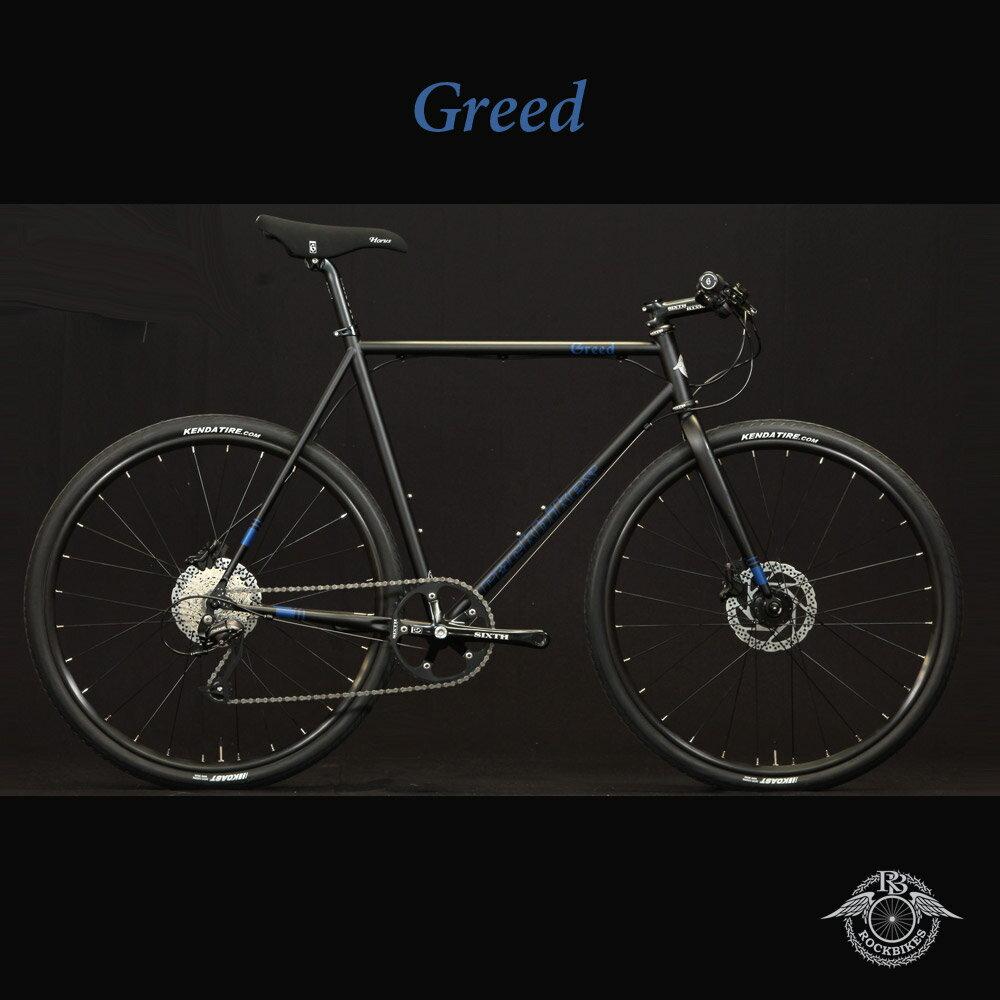 GREED phase2(グリードフェーズ2)【COLOR:NEW! Black'N'Blue】ROCKBIKES(ロックバイクス)27.5/650b採用クロモリクロスバイク【ロックバイクスストア限定販売】【送料プランC】 【完全組立】【店頭受取対応商品】