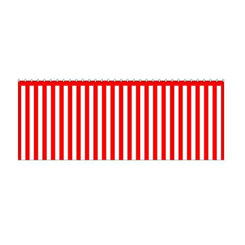 【紅白幕(綿) 180cm×3間】のぼり屋工房 1953【業務用】【グループC】