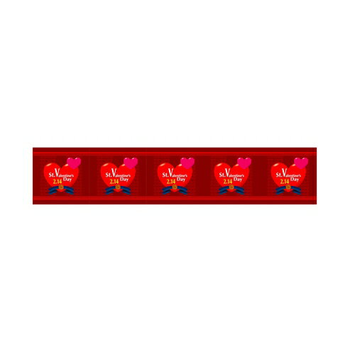 【ロール幕 「 バレンタイン 」  】のぼり屋工房 3830【業務用】【グループC】