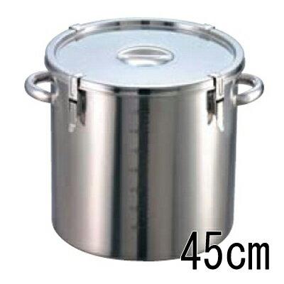 EBM 18-8 パッキン寸胴鍋 (目盛付) 45cm 【業務用】【送料無料】