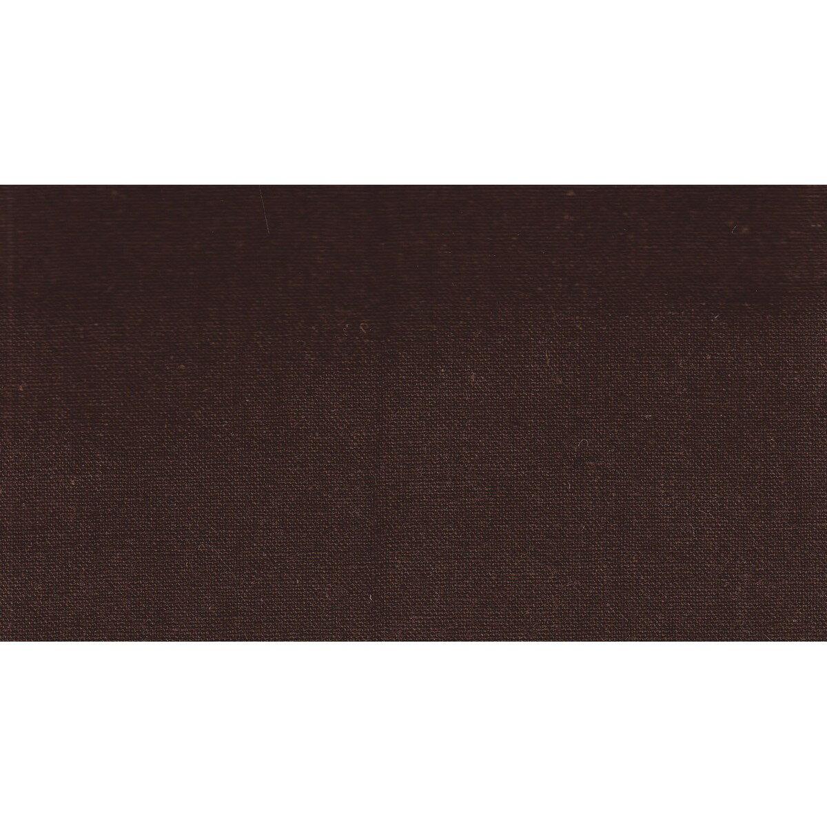 菱)綿麻キャンバス(麻55%) 無地 巾110cm 原反 こげ茶/HCL6000R-C【01】【取寄】[12m]《 手芸用品 生地・芯地 キャンバス・ガーゼ 》