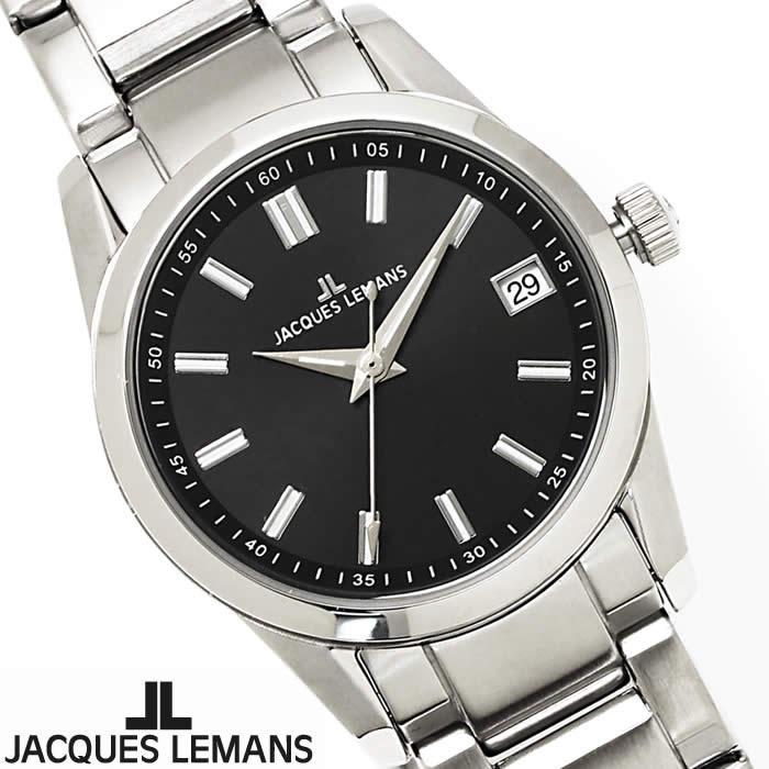 【送料無料】腕時計 レディース ジャックルマン JACQUES LEMANS 1-1811A リバプール 時計 オフィス シンプル ブランド シルバー ブラック ステンレス 細身 華奢 ビジネス 激安 とけい うでどけい ウォッチ watch tokei udedokei