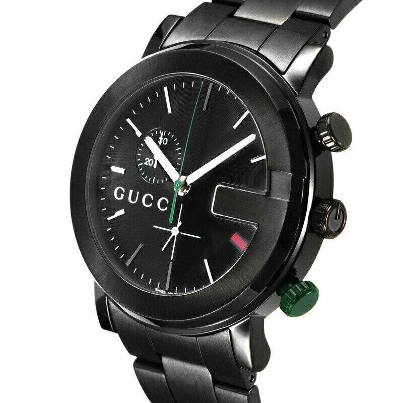 グッチ GUCCI 腕時計 Gクロノ ブラック YA101331