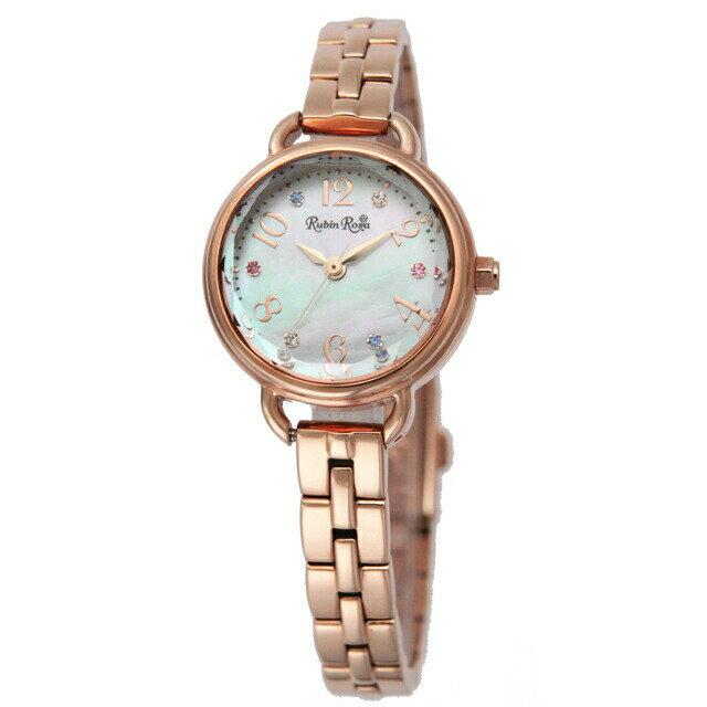 ルビンローザ Rubin Rosa レディース 腕時計 R019SOLPWH