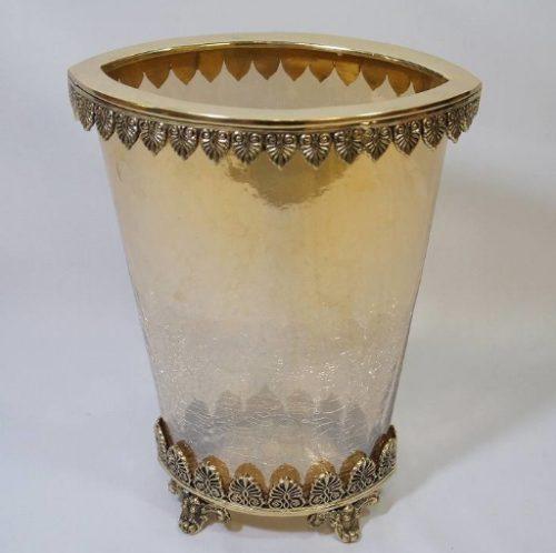 【送料無料】クラシックインテリア(真鍮×ガラス) アンティーク おしゃれ プレゼント ギフト 置物 ガラス 小物入れ 花瓶