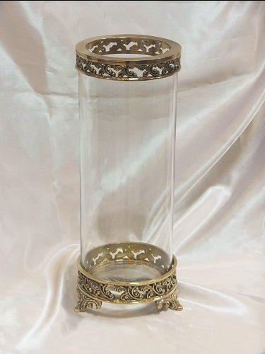 【送料無料】クラシックフラワーベース(真鍮×ガラス)花瓶 アンティーク おしゃれ プレゼント ギフト 置物 ガラス 花器 フラワースタンド
