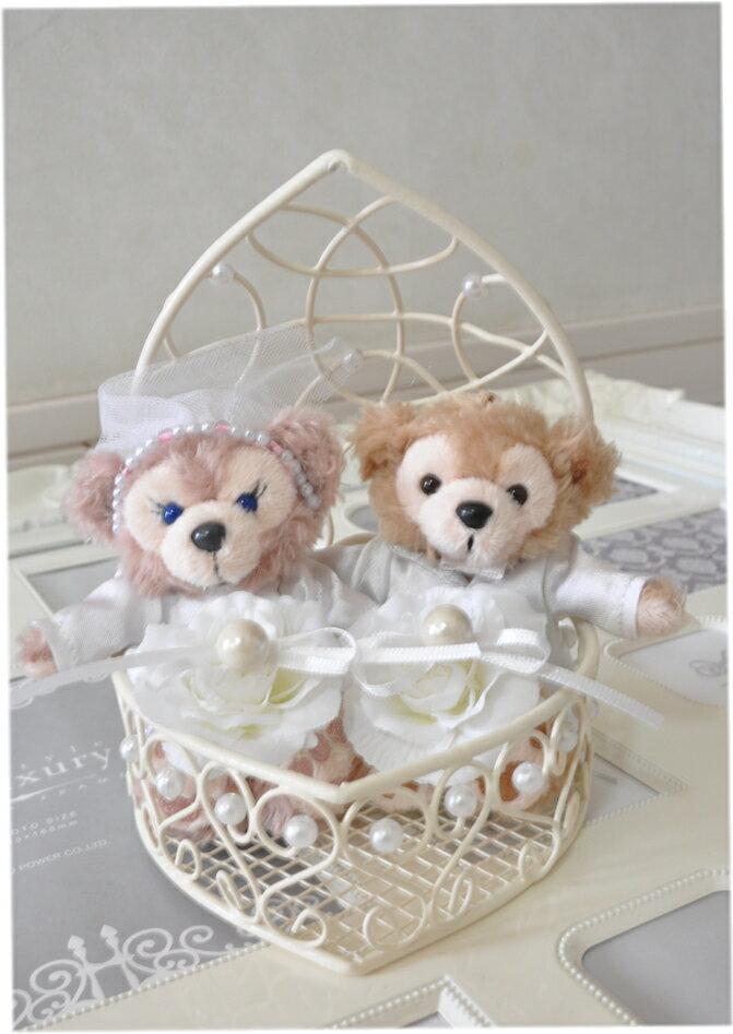 ディズニーシー★ダッフィー&シェリーメイリングピロー☆ウエディング☆結婚式☆完成品♪♪♪