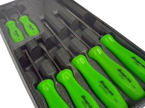 Snap-on(スナップオン) 樹脂製スクリュードライバーセット7ピース(グリーン) ★SDDX70AG