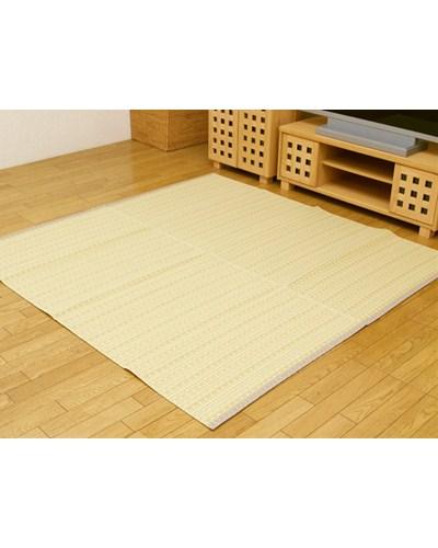 洗える PPカーペット バルカン ベージュ 本間8畳 約382×382cm - イケヒココーポレーション