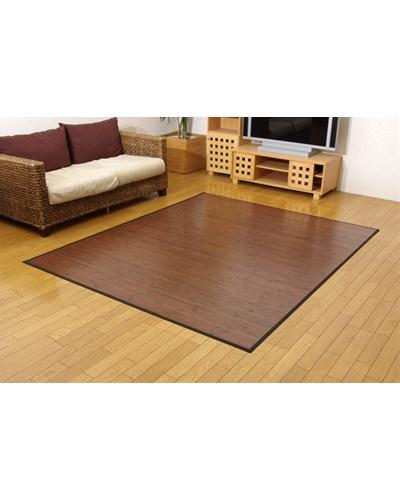 糸なしタイプ 竹カーペット ユニバース ダークブラウン 180×220cm - イケヒココーポレーション