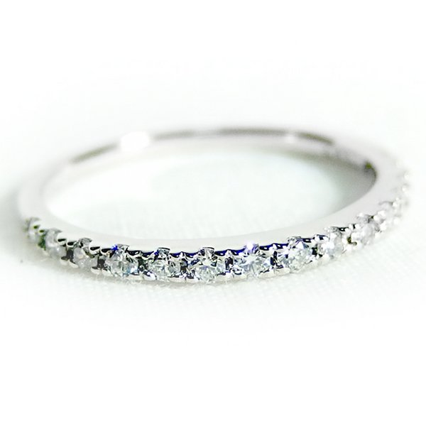 ダイヤモンド リング ハーフエタニティ 0.3ct 12号 プラチナ Pt900 ハーフエタニティリング 指輪