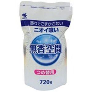 (業務用40セット)小林製薬 消臭剤 無香空間 特大 詰め替えパウチ 648g