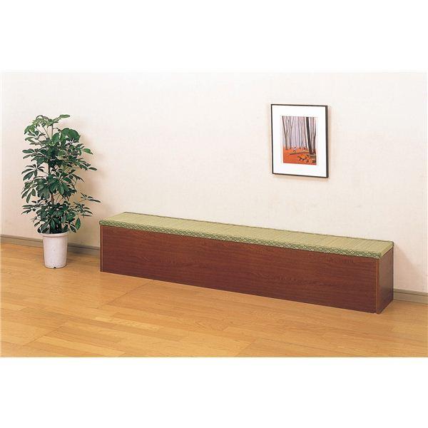 収納付き畳ベンチ/スツール 【幅180cm】 ブラウン 【組立】