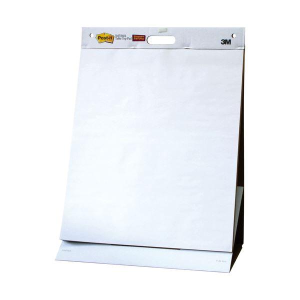 (まとめ) 3M ポストイット イーゼルパッド テーブルトップタイプ 584×508mm ホワイト EASEL 563 1冊 【×2セット】
