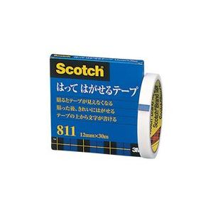 (業務用100セット) スリーエム 3M メンディングテープ 811-3-12 12mm×30m