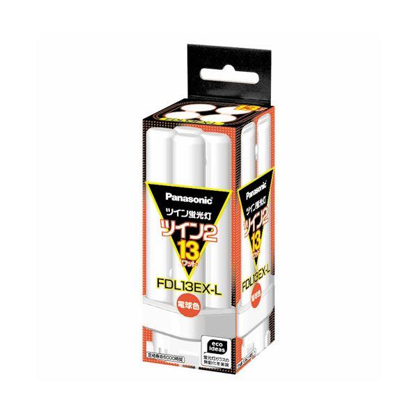 (まとめ) パナソニック ツイン蛍光灯 ツイン2 13W形 電球色 FDL13EX-L(1個) 【×6セット】