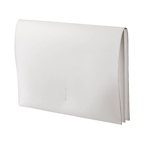 (まとめ) プロッシモ リサイクルレザー スリムレザーケース A4 ホワイト PRORSCA4WH 1冊 【×2セット】