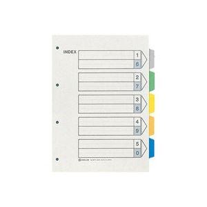 (業務用50セット) キングジム カラーインデックス/ファイル用仕切り 【A4/4穴 タテ型】 10組入り 907-4 ×50セット