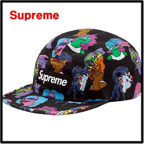 BLACK 【Supreme [シュプリーム] Gonz Heads Camp Cap キャンプキャップ 黒 ブラック】