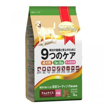 スマートハートゴールド ラム&ライス(3kg・中粒)4個セット【送料無料】SHG・ドックフード