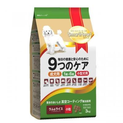 スマートハートゴールド ラム&ライス(3kg・小粒)4個セット【送料無料】SHG・ドックフード