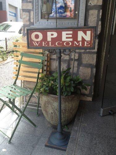 ★送料無料★【ダルトン】DULTON オープン/クローズサインスタンド両面[S355-83]OPEN-CLOSED SIGN STAND/インテリア ディスプレイ レストラン 店舗用 北欧 モダン スタンド アメリカン雑貨