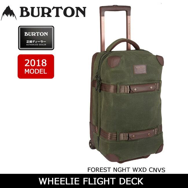 2018 BURTON バートン トラベルバッグ WHEELIE FLIGHT DECK FOREST NGHT WXD CNVS/14945105330 【カバン】旅行 ビジネス