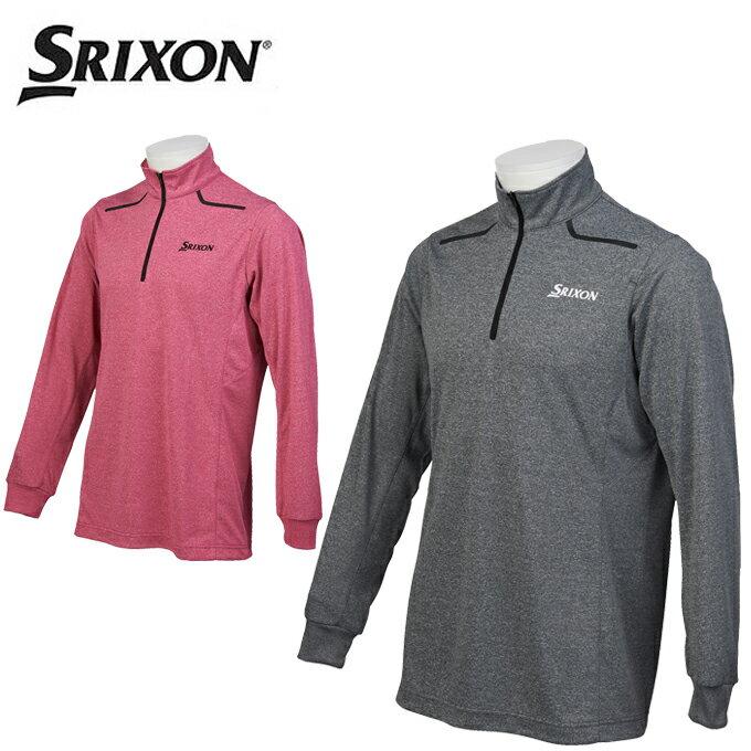 スリクソン SRIXON ゴルフウェア ポロシャツ 長袖 メンズ Mヒートナビ杢スムースHZ長袖シャツ SRM1117F