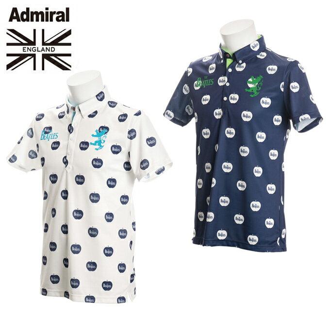 アドミラル Admiral  ゴルフウェア ポロシャツ 半袖 メンズ THE BEATLES APPLE BDシャツ ADMA768