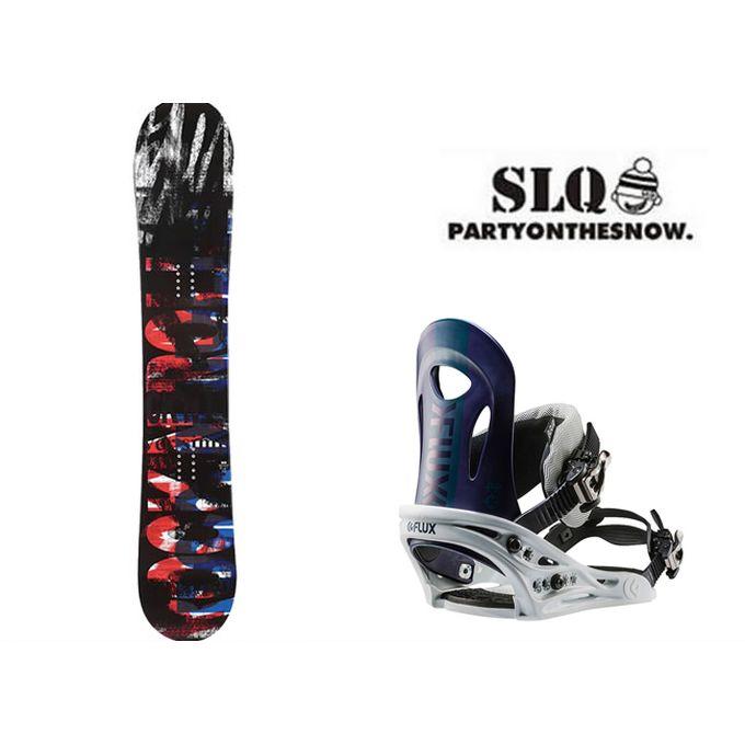 エスエルキュー SLQ スノーボード 2点セット メンズ SCOOP FLAT+PR NV ボード+ビンディング