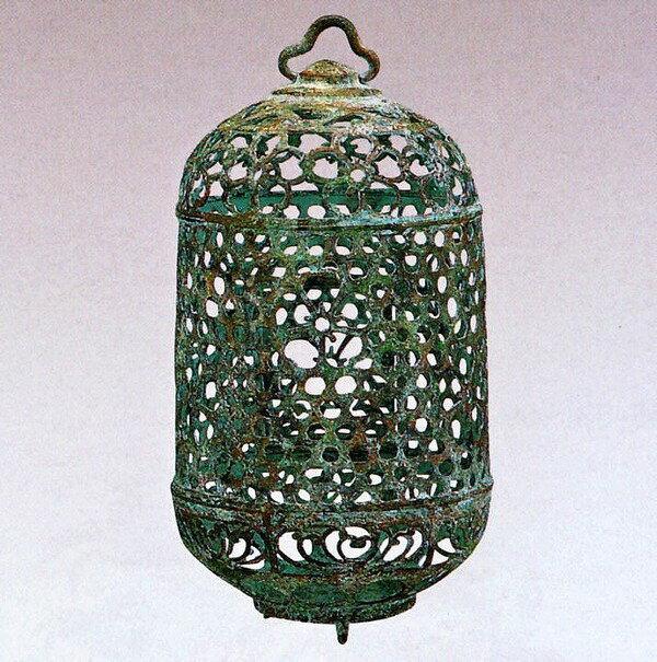 吊るし灯籠/桜 クサリ付 高岡銅器の庭置物/通販