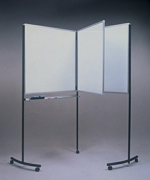 スイングホワイトボード☆本のようにめくれる&折りたたみできる!900mm×900mmのホワイトボード3枚(表裏6面)