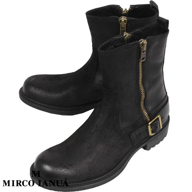 MIRCO IANUA ミルコ イナウア メンズ  ブーツ  3341 Vintage Nero ブラック【50%OFF】