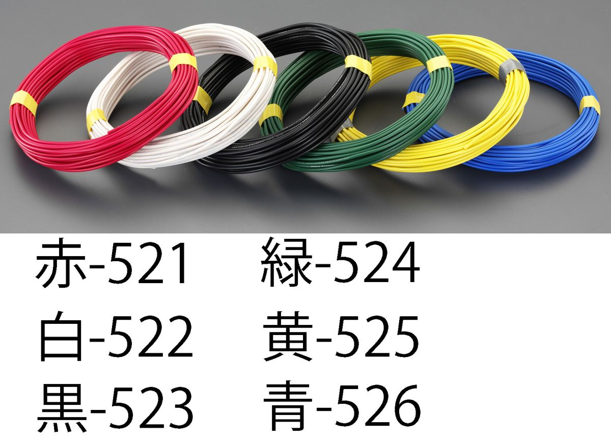 【限定品】 【メーカー在庫あり】 EA940AT-521 エスコ ESCO 1.6mmx100m IV電線 単線/赤