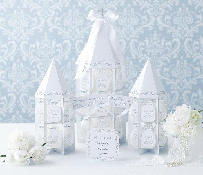 ホワイトウェディング~チャペルタワー~ハート型ミニパイ48個セット【ディスプレイ オブジェ 結婚式 クリスマス】