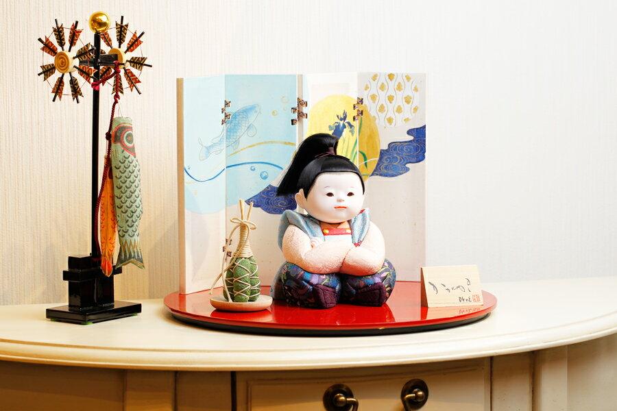 【新作】【五月人形 コンパクト】 【五月人形 童飾り】 【木目込み】 【5月人形】【人気】【小さい】【送料無料】五月人形 童飾り 樹 IO-0006-12B