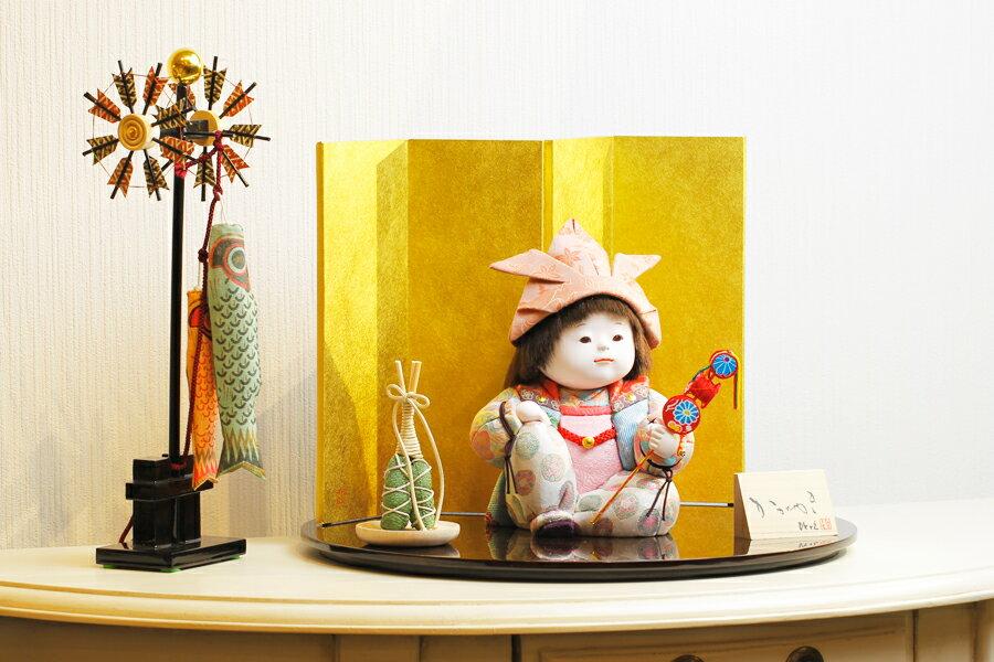 【新作】【五月人形 コンパクト】 【五月人形 童飾り】 【木目込み】 【5月人形】【人気】【小さい】【送料無料】五月人形 童飾り 湊 IO-0001-01A