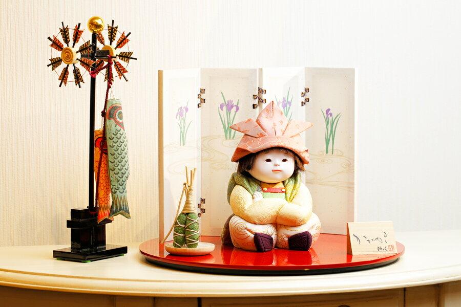 【新作】【五月人形 コンパクト】 【五月人形 童飾り】 【木目込み】 【5月人形】【人気】【小さい】【送料無料】五月人形 童飾り 薫 IO-0005-11A