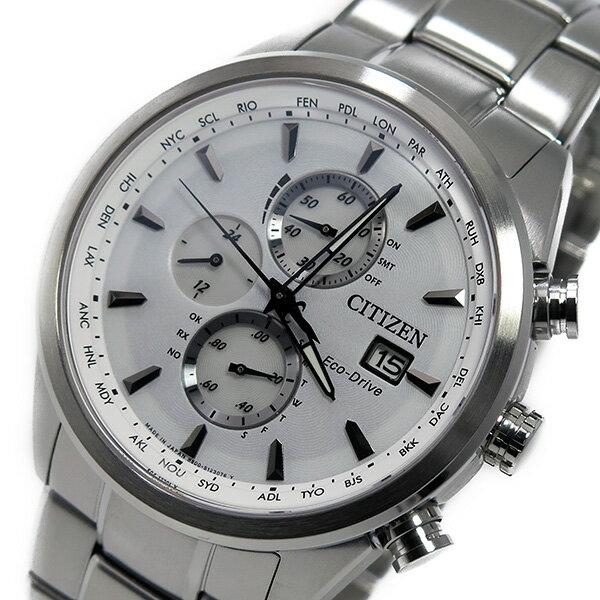シチズン CITIZEN クオーツ メンズ クロノ 腕時計 AT8015-54A ホワイト